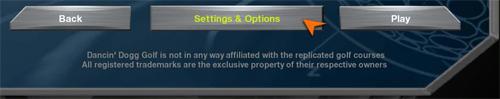 Settings & Options