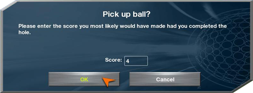 Pick up ball